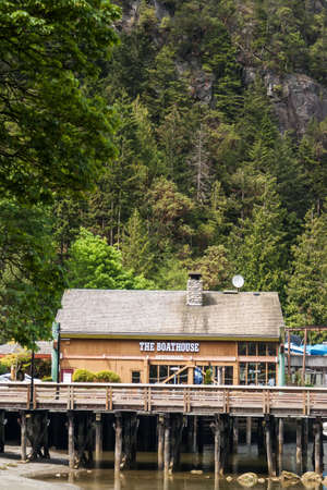 WEST VANCOUVER, CANADA - MAY 23, 2007: Boathouse in Horseshoe Bay in West Vancouver. Horseshoe Bay is home to 3rd largest British Columbia ferry terminal which provides vehicle ferry links to Vancouver Island, the Sunshine Coast and Bowen Island.