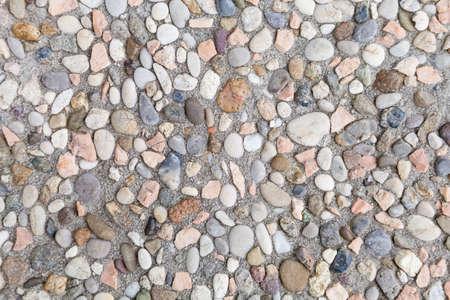 pebble stone floor squares Stock Photo