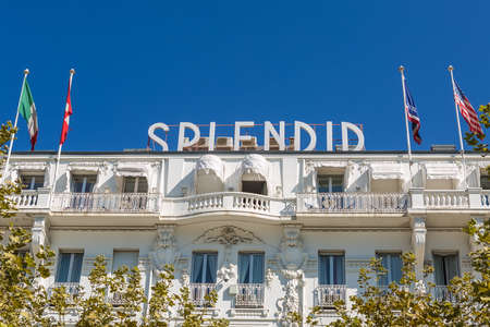 splendid: CANNES, FRANCE - AUGUST 17, 2015: Hotel Splendid in the center the city, near Old Port and Croisette. It was built in 1834 on the site of soap factory. Editorial