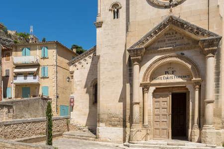 portal: Portal of St. Etienne church in Saint-Saturnin-les-Apt, France