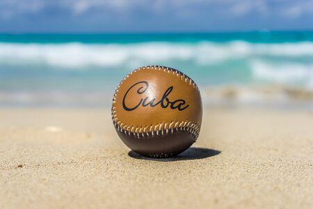 Cuban Baseball at the Beach Stock fotó - 57359545