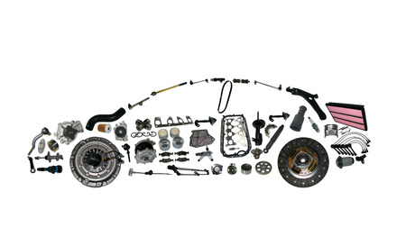 acceleration car detail drive engine force garage gear Archivio Fotografico