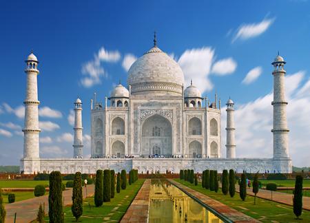 India, Taj Mahal. Indian palace Taj mahal world landmark. Archivio Fotografico