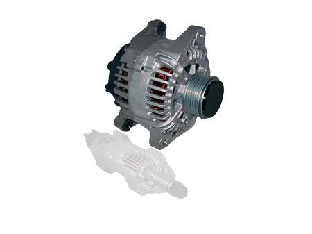 three phase motor: Alternator isolated on white background for car