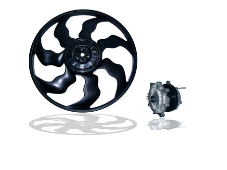 impeller: Engine Cooling Fan Clutch on white background Stock Photo