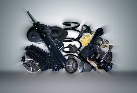 spare: Many new Suspension and steering parts for a car