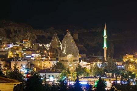 goreme: Night turkish town of the Goreme, Cappadocia