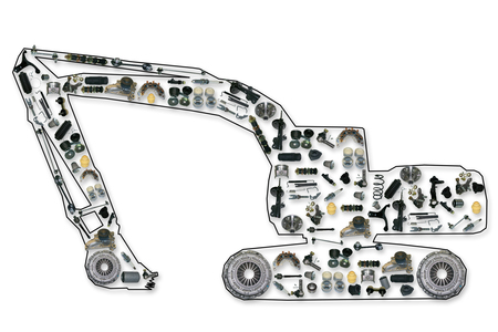 spare parts for truck or excavator, like excavator