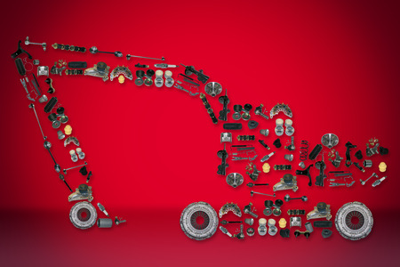 aftermarket: spare parts for truck or excavator like excavator