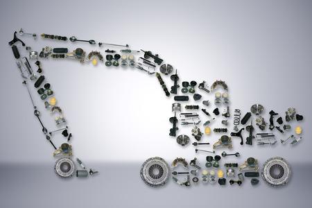 トラックや油圧ショベルのようなショベル用のスペアパーツします。