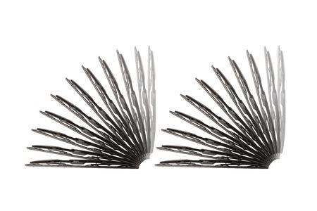 windscreen: Some windscreen wipers on a white background