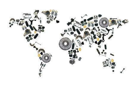 スペアパーツ ショップの自動車アフター マーケットの地図 写真素材