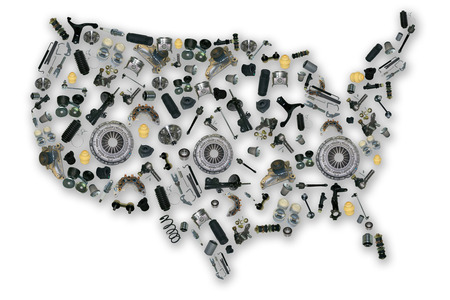 aftermarket: Spare parts map for shop auto aftermarket