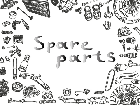 spare: spare parts car shop auto aftermarket kit