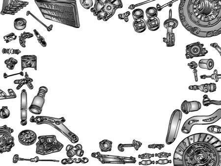 machine part: spare parts car shop auto aftermarket kit