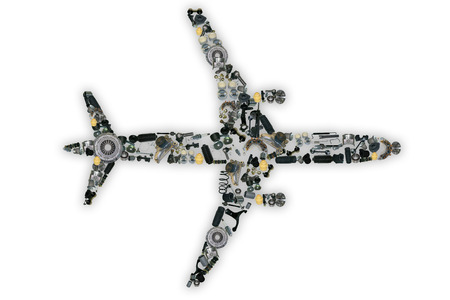 Spare parts airplane for shop auto aftermarket