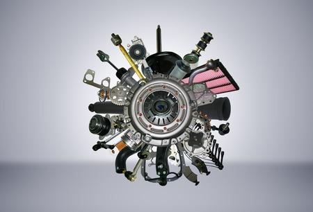 mecanica industrial: Muchas imágenes de piezas de repuesto para el coche de pasajeros