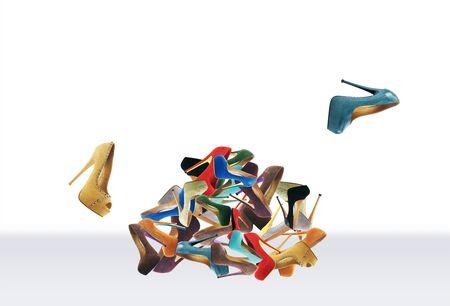 footwear: Many womens multicolored shoes. Big mountain footwear
