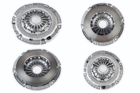 clutch cover: Many clutch cover for car on a white background Stock Photo