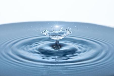 slow motion: Beautiful splash of Water Drop. Freeze action Stock Photo