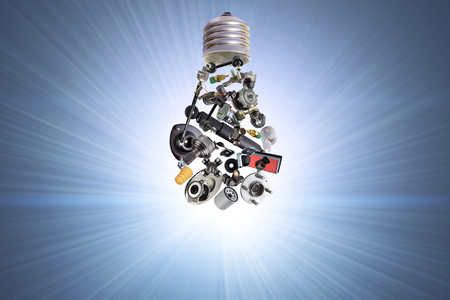 electric bulb: Electric bulb with spare parts for car