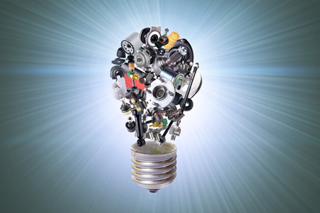 spare: Electric bulb with spare parts for car