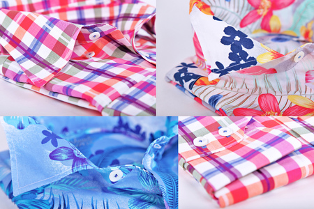 long sleeves: Many shirt with long sleeves close up