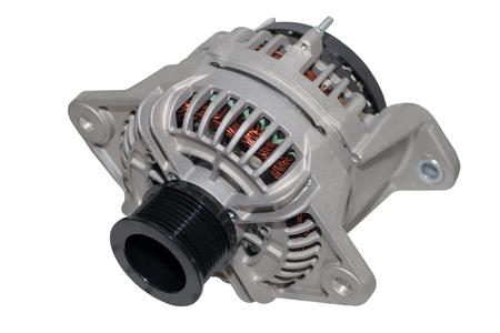 alternateur: Alternator. Image of car alternator isolated on white background. Banque d'images