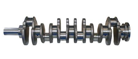 crankshaft: Isolated on white background crankshaft from engine car