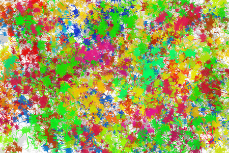 wrappers: Painted abstract background with lots of flowers. The cloth for textile products and wrappers. Stock Photo