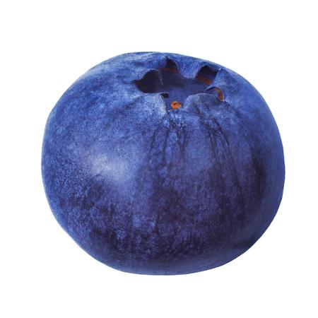 ブルーベリーは、白い背景で隔離。ブルーベリーの青い色は非常にクローズ アップです。風景は、ブルーベリーの惑星に似ています。高解像度でブ