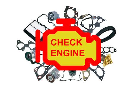 Check Engine Light Symbol Image Of Auto Spare Parts On White