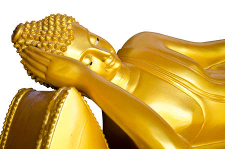 Reclining Buddha gold photo