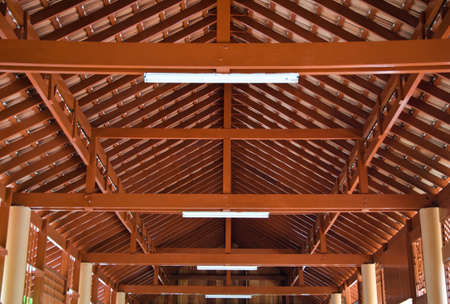 almshouse: Wood roof structures