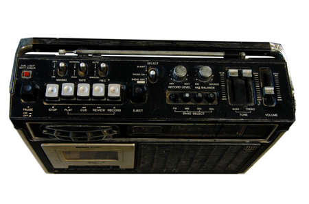 Old radio on a white background photo