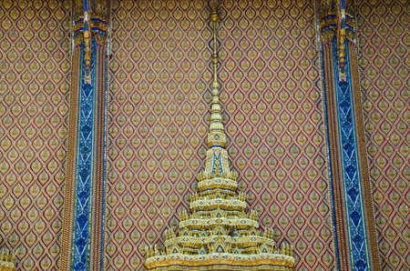 The pattern on the temple wall Thailand photo