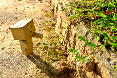 supervillian: Danboard or Danbo Figure in the garden Editorial