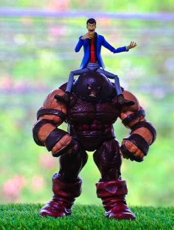 supervillian: juggernout mavel and man in the garden
