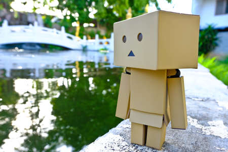 Danboard, Danbo first appeared in chapter 28 of the manga, first issued in April 2006. Yotsuba Koiwais friend Miura Hayasaka created the costume out of cardboard boxes as a science project, but 5-year-old Yotsuba is convinced its a real robot. The Japan