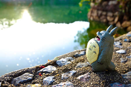 supervillian: Totoro standing at the Riverside