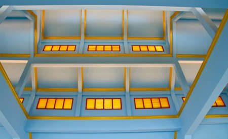 almshouse: The Chinese style blue ceiling structure