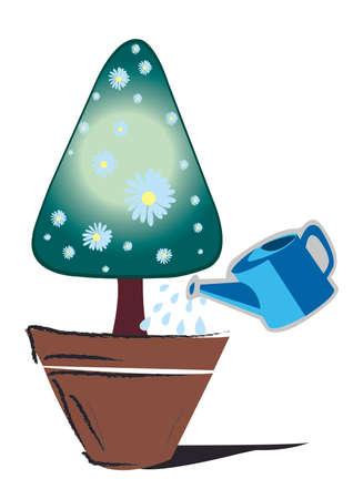 chrismas card: Tree triangle