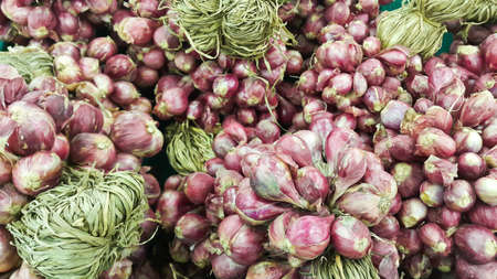 red onion: Red onion at the market Stock Photo