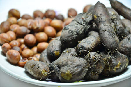 Native vegetable in the South of Thailand be similar to potatoes