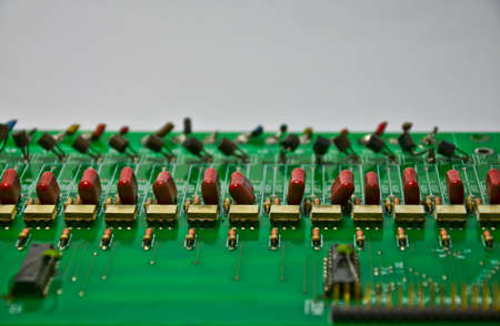 Old circuit boards on white background Standard-Bild