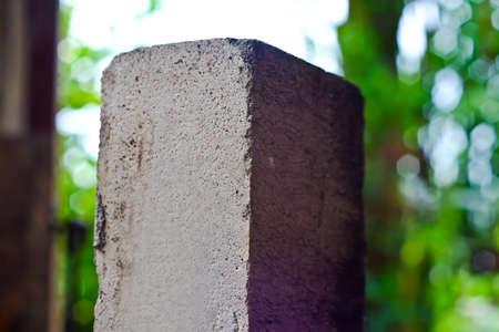 Old white brick on nature background (brick)