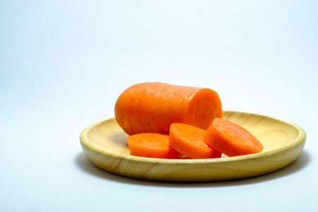 finocchio: Carrots sliced isolated on a white background (carrots) Archivio Fotografico