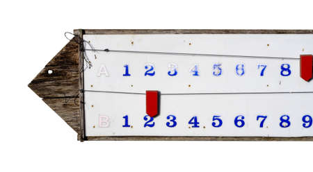 The score bar of petanque on white background (isolated)