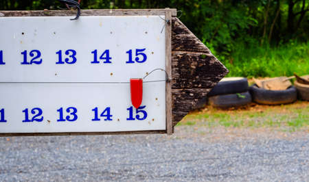 The score bar of petanque (old)