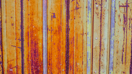Old zinc wall surface background. corrugated iron siding vintage texture background.